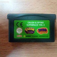 Videojuegos y Consolas: SPYRO & CRASH SUPERPACK VOL 3 FUSION - GBA - GAME BOY ADVANCE - PAL ESPAÑA. Lote 98147967