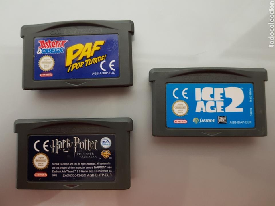 ICE AGE 2-HARRY POTTER Y ASTERIX Y OBELIX 3 JUEGOS NINTENDO GAME BOY ADVANCE (Juguetes - Videojuegos y Consolas - Nintendo - GameBoy Advance)