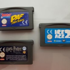 Videojuegos y Consolas: ICE AGE 2-HARRY POTTER Y ASTERIX Y OBELIX 3 JUEGOS NINTENDO GAME BOY ADVANCE. Lote 100496384