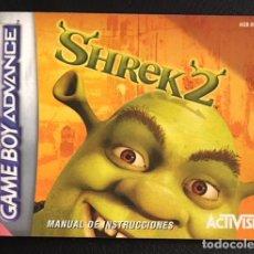 Videojuegos y Consolas: MANUAL DE INSTRUCCIONES DEL JUEGO DE GAME BOY GAMEBOY ADVANCE NINTENDO SHREK 2. Lote 100517087