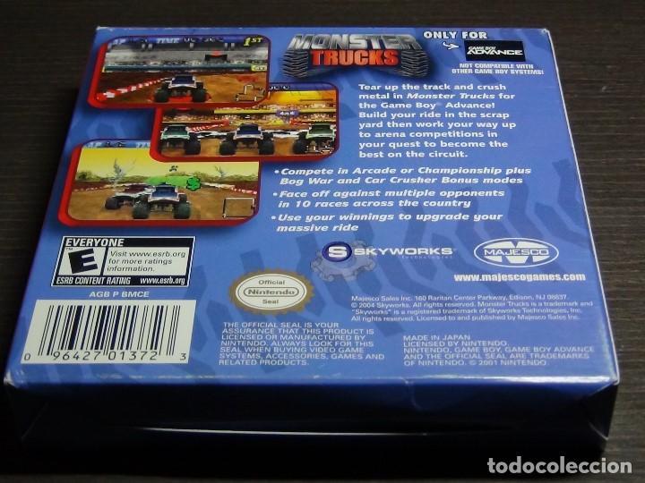 Videojuegos y Consolas: Nintendo Gameboy Advance juego-Monster Trucks - completo - Foto 3 - 102741727