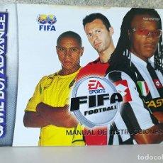 Videojuegos y Consolas: INSTRUCCIONES FIFA GAME BOY ADVANCE . Lote 107327655