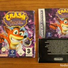 Videojuegos y Consolas: GAME BOY ADVANCE - CAJA E INSTRUCCIONES CRASH BANDICOOT FUSION - GBA. Lote 110003259