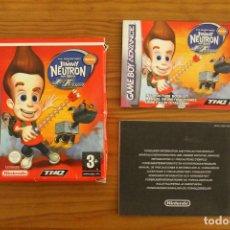 Videojuegos y Consolas: GAME BOY ADVANCE - CAJA E INSTRUCCIONES JIMMY NEUTRON JET FUSION - GBA. Lote 110003283