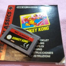 Videojuegos y Consolas: JUEGO DONKEY KONG NES CLASSICS GAMEBOY ADVANCE GAME BOY. Lote 111196219