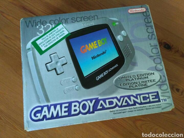 CONSOLA NINTENDO GBA EDICIÓN LIMITADA PLATINUM NUEVA (Juguetes - Videojuegos y Consolas - Nintendo - GameBoy Advance)