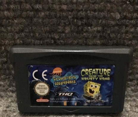 spongebob creature from the krusty krab gba