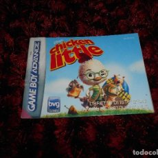 Videojuegos y Consolas: MANUAL JUEGO CHICKEN LITTLE GAME BOY ADVANCE. Lote 112250595