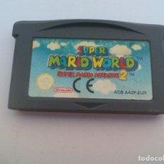 Videojuegos y Consolas: JUEGO SUPER MARIO WORLD, SUPER MARIO ADVANCE 2. PARA NINTENDO GAME BOY ADVANCE GBA. FUNCIONANDO . Lote 112439115
