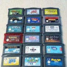 Videojuegos y Consolas: OCASION - LOTE DE 20 JUEGOS CARTUCHOS DE LA GAME BOY GAMEBOY ADVANCE VER FOTOS. Lote 115840223