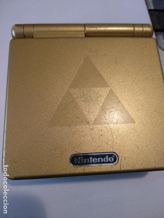 NINTENDO GAME BOY ADVANCE GBA SP ZELDA TRIFORCE SISTEMA AGS MÁS BRILLANTE GOLD (Juguetes - Videojuegos y Consolas - Nintendo - GameBoy Advance)