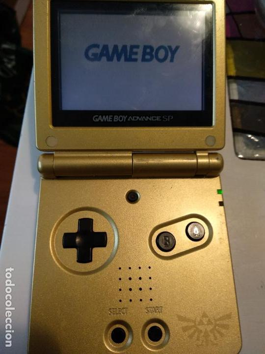 Videojuegos y Consolas: Nintendo Game Boy Advance GBA SP Zelda Triforce sistema AGS más brillante Gold - Foto 4 - 116258583