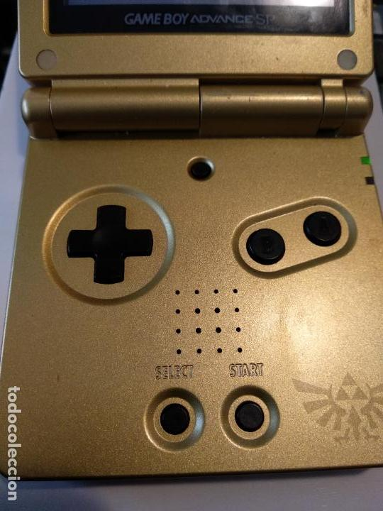 Videojuegos y Consolas: Nintendo Game Boy Advance GBA SP Zelda Triforce sistema AGS más brillante Gold - Foto 5 - 116258583