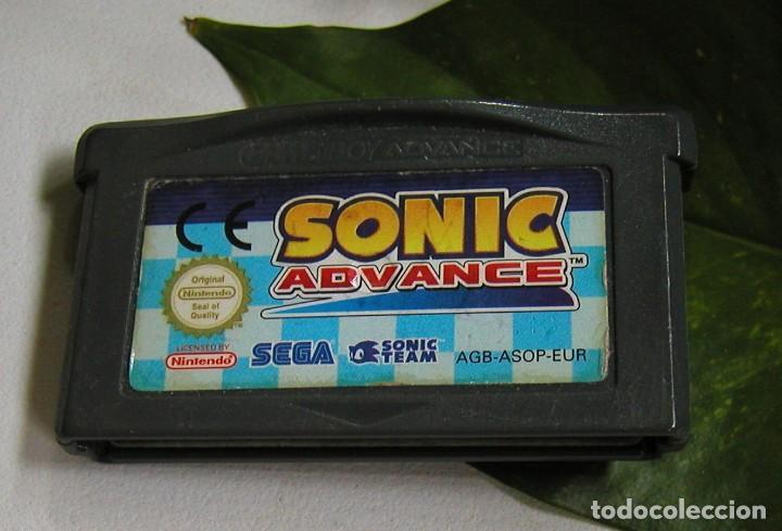 JUEGO CONSOLA SONIC GAMEBOY GAME BOY ADVANCE SEGA ORIGINAL NINTENDO MADE IN JAPAN SOLO CARTUCHO (Juguetes - Videojuegos y Consolas - Nintendo - GameBoy Advance)