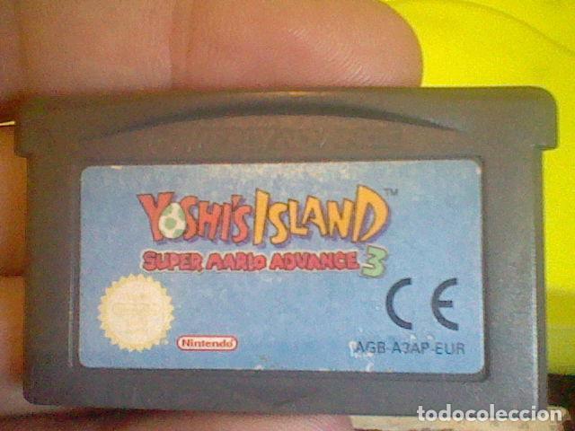 YOSHIS ISLAND SUPER MARIO 3GBA GAMEBOY ADVANCE NINTENDO FUNCIONANDO (Juguetes - Videojuegos y Consolas - Nintendo - GameBoy Advance)