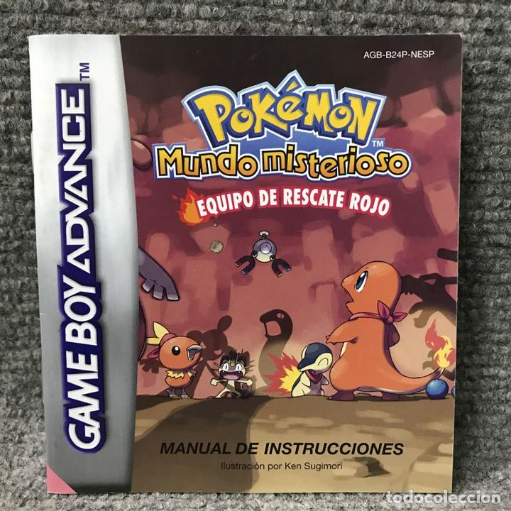 juego pokemon mundo misterioso equipo de rescate rojo gba