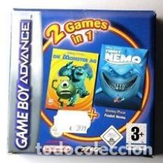 Videojuegos y Consolas: MONSTRUOS S.A + BUSCANDO A NEMO - 2 JUEGOS EN 1 (GAME BOY ADVANCE). Lote 120719923