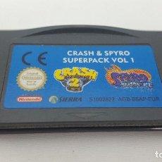 Videojuegos y Consolas: JUEGO GAMEBOY ADVANCE - SUPERPACK VOL.1 CRASH & SPYRO. Lote 121526591