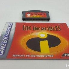 Videojuegos y Consolas: JUEGO GAMEBOY ADVANCE - LOS INCREIBLES + MANUAL. Lote 121527091