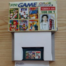 Videojuegos y Consolas: JUEGO GAME BOY ADVANCE 108 EN 1 - ALADDIN+TARZAN+PRI PRI+TETRIS. Lote 121876811
