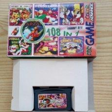 Videojuegos y Consolas: JUEGO GAME BOY ADVANCE 108 EN 1 - DOUBLE DRAGON 3+TERMINATOR 2+SPIDERMAN 3+SUPER MARIO LAND+TETRIS. Lote 121877663