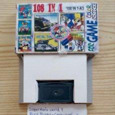 Videojuegos y Consolas: JUEGO GAME BOY ADVANCE 108 EN 1 - SUPER MARIO WORLD 7+BUGS BUNNY+BATTLE CITY+DR MARIO. Lote 121878463