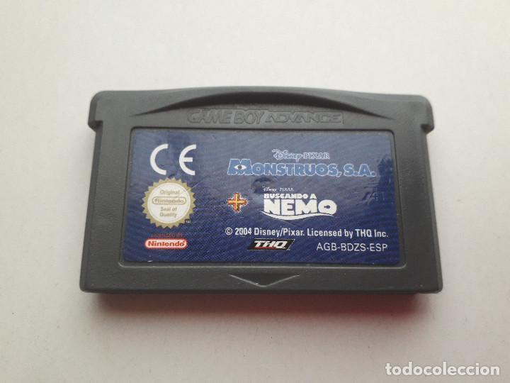 08-00214 NINTENDO GAME BOY ADVANCE - MONSTRUOS SA + BUSCANDO A NEMO (Juguetes - Videojuegos y Consolas - Nintendo - GameBoy Advance)