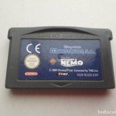 Videojuegos y Consolas: 08-00214 NINTENDO GAME BOY ADVANCE - MONSTRUOS SA + BUSCANDO A NEMO. Lote 129025807