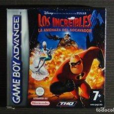 Videojuegos y Consolas: GAMEBOY ADVANCE LOS INCREIBLES LA AMENAZA DEL SOCAVADOR. Lote 132351906