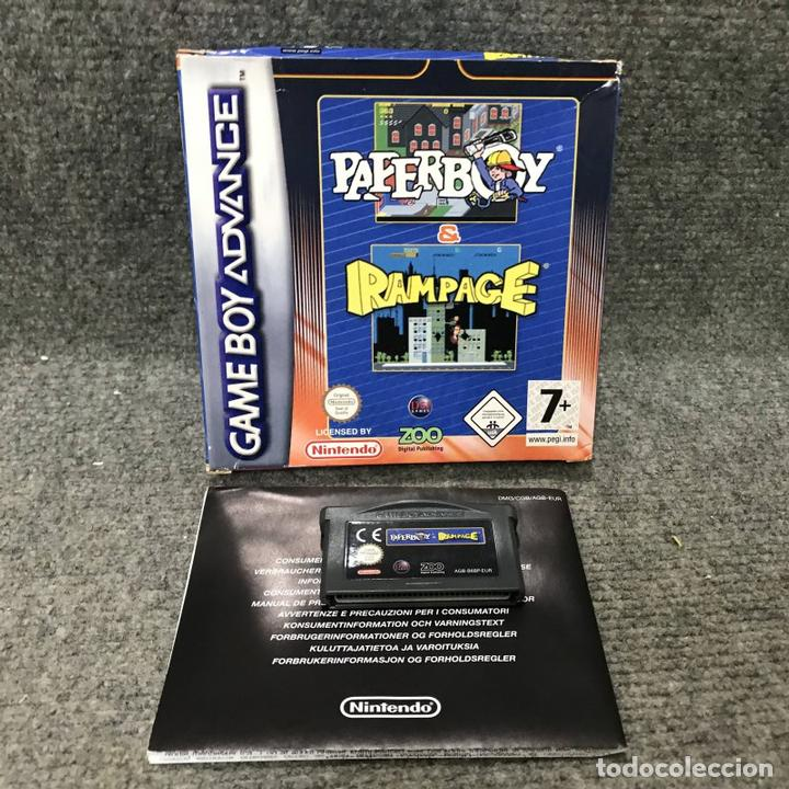 PAPERBOY AND RAMPAGE NINTENDO GAME BOY ADVANCE