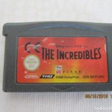 Videojuegos y Consolas: JUEGO ORIGINAL NINTENDO GAME BOY ADVANCE LOS INCREIBLES PIXAR. Lote 136034522