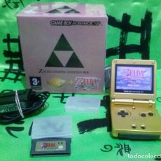 Videojuegos y Consolas: GAME BOY ADVANCE SP *EDICIÓN ZELDA - LINK TO THE PAST & A MINISH CAP* EXCELENTE ESTADO.. Lote 143755726