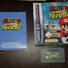 Videojuegos y Consolas: NINTENDO GAMEBOY ADVANCE MARIO POWER TENNIS EN CAJA COMPLETO. Lote 145702466