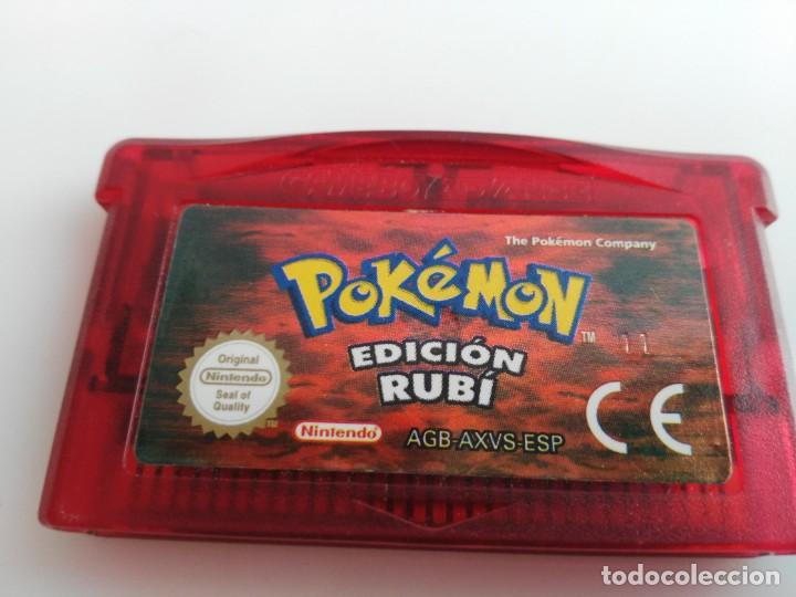 ANTIGUO JUEGO PARA GAME BOY ADVANCE SP POKEMON RUBI FUNCIONANDO (Juguetes - Videojuegos y Consolas - Nintendo - GameBoy Advance)