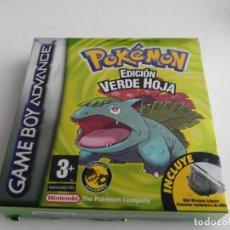 Videojuegos y Consolas: ANTIGUO JUEGO PARA GAME BOY ADVANCE SP POKEMON EDICION VERDE HOJA EN CAJA . Lote 147862866