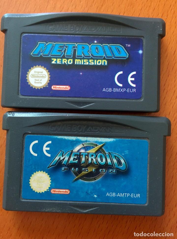 METROID FUSION Y METROID ZERO PAL ESP GAME BOY GAMEBOY ADVANCE (Juguetes - Videojuegos y Consolas - Nintendo - GameBoy Advance)