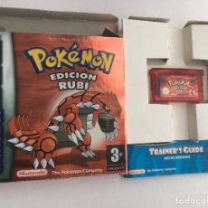 Videojuegos y Consolas: POKEMON EDICION RUBY GBA GAMEBOY ADVANCE GAME BOY SP MICRO KREATEN NINTENDO CAJA MANUAL. Lote 152580930