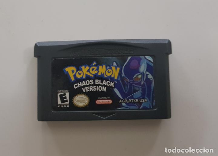 JUEGO NINTENDO GAMEBOY ADVANCE- POKEMON CHAOS BLACK VERSION GAME BOY HACK MUY RARO!!!!!! ÚNICO (Juguetes - Videojuegos y Consolas - Nintendo - GameBoy Advance)