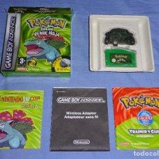 Videojuegos y Consolas: JUEGO GAME BOY ADVANCE GBA - POKEMON EDICION VERDE HOJA - COMPLETO - PAL ESPAÑA. Lote 161465822