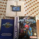 Videojuegos y Consolas: METROID FUSION GAME BOY ADVANCE. Lote 165609882