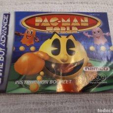 Videojuegos y Consolas: ANTIGUO MANUAL PAC-MAN WORLD. GAME BOY ADVANCE.. Lote 166129245