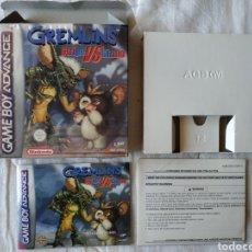 Videojuegos y Consolas: GREMLINS STRIPE VS GIZMO COMPLETO NINTENDO GAME BOY GAMEBOY ADVANCE. Lote 170040922