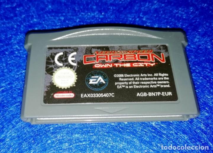 VIDEOJUEGOS --- CARTUCHO JUEGO NEED FOR SPEED CARBON PARA NINTENDO GAME BOY ADVANCE (Juguetes - Videojuegos y Consolas - Nintendo - GameBoy Advance)