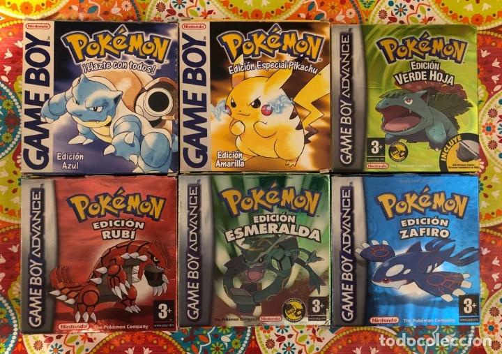 LOTE DE 6 JUEGOS POKÉMON GB Y GBA COMPLETOS!!! (Juguetes - Videojuegos y Consolas - Nintendo - GameBoy Advance)