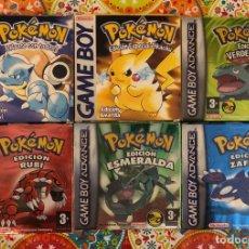 Videojuegos y Consolas: LOTE DE 6 JUEGOS POKÉMON GB Y GBA COMPLETOS!!!. Lote 172257772