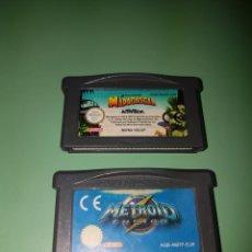 Videojuegos y Consolas: JUEGOS GAME BOY ADVANCE MADAGASCAR + METROID. Lote 172425419