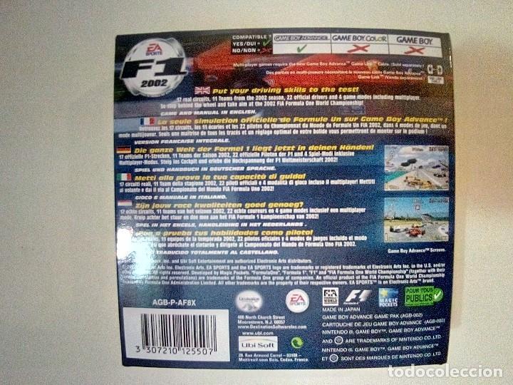 Videojuegos y Consolas: SOLO CAJA PERFECTA CON INSTRUCCIONES-GB ADVANCE-F1 2002-PAL - Foto 2 - 173817508