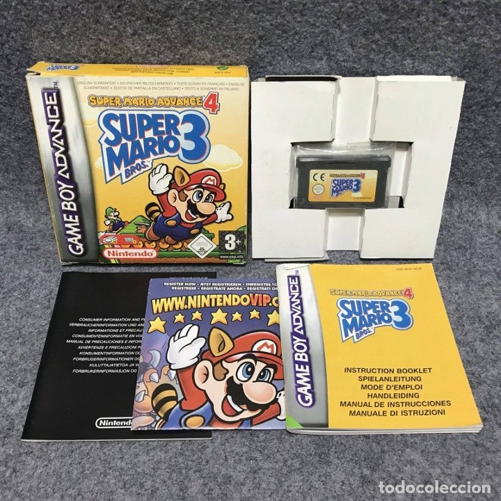 SUPER MARIO ADVANCE 4 SUPER MARIO BROS 3 NINTENDO GAME BOY ADVANCE GBA (Juguetes - Videojuegos y Consolas - Nintendo - GameBoy Advance)