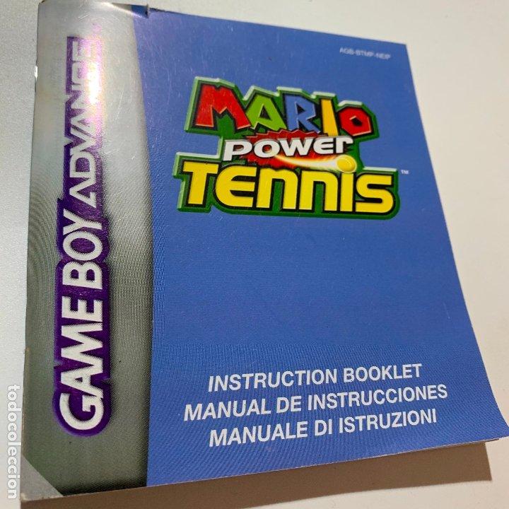 MANUAL DE INSTRUCCIONES MARIO POWER TENNIS GAMEBOY GAMEBOY ADVANCE (Juguetes - Videojuegos y Consolas - Nintendo - GameBoy Advance)