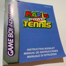 Videojuegos y Consolas: MANUAL DE INSTRUCCIONES MARIO POWER TENNIS GAMEBOY GAMEBOY ADVANCE. Lote 174590665